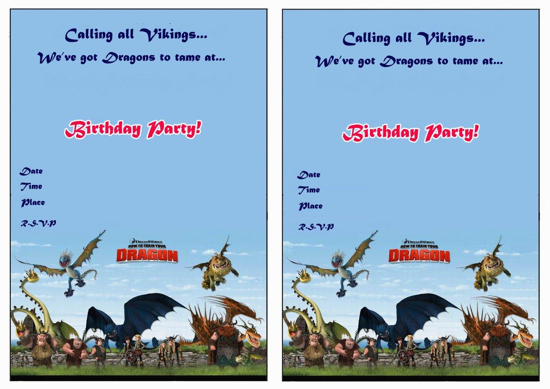 Dragon Birthday Invitations Printable