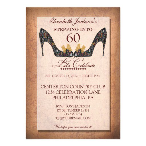 E Invitations For 60th Birthday