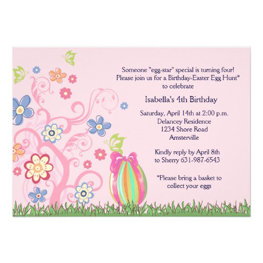 Easter Birthday Party Invitation Wording