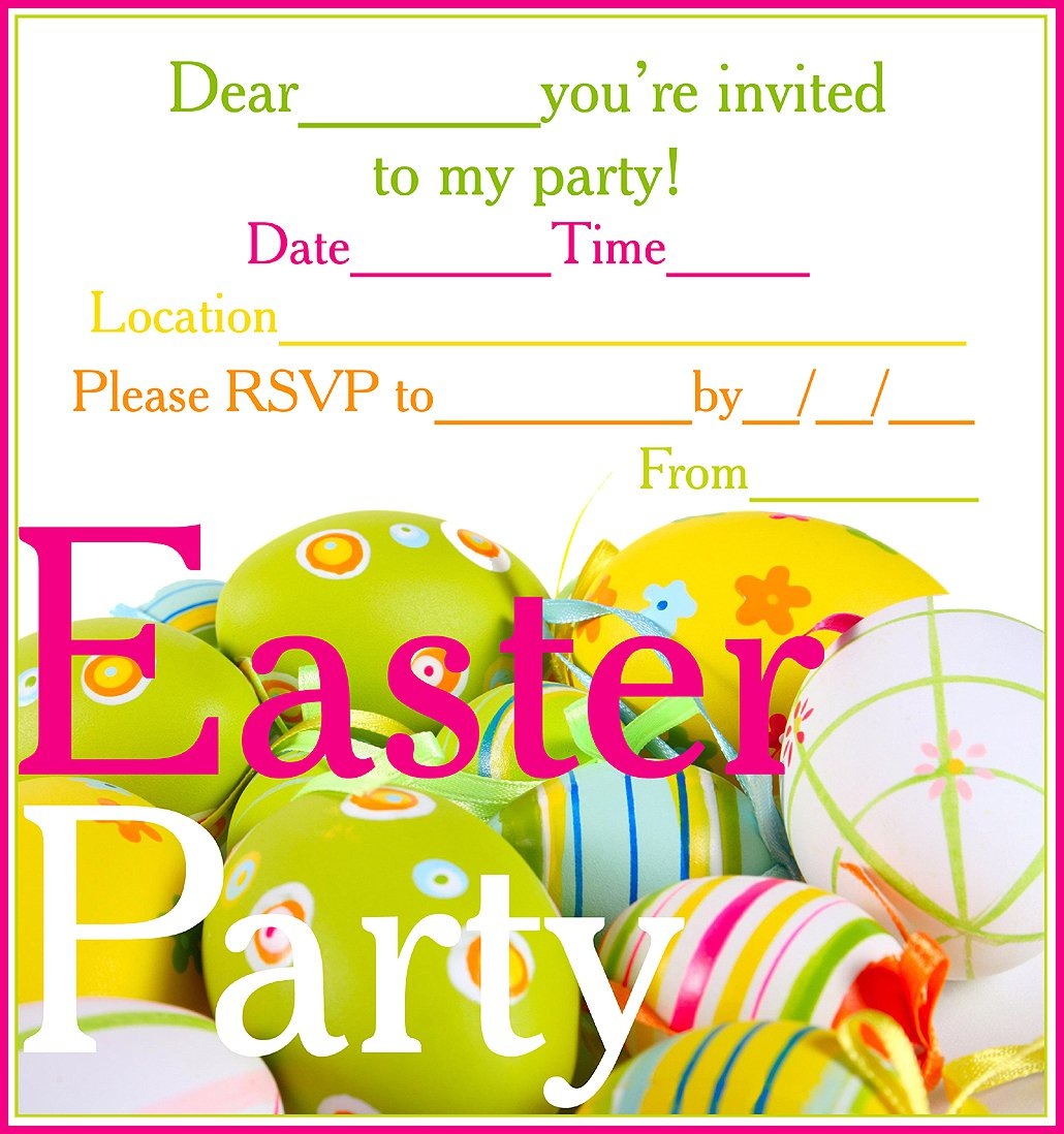 Easter Party Invitations Free