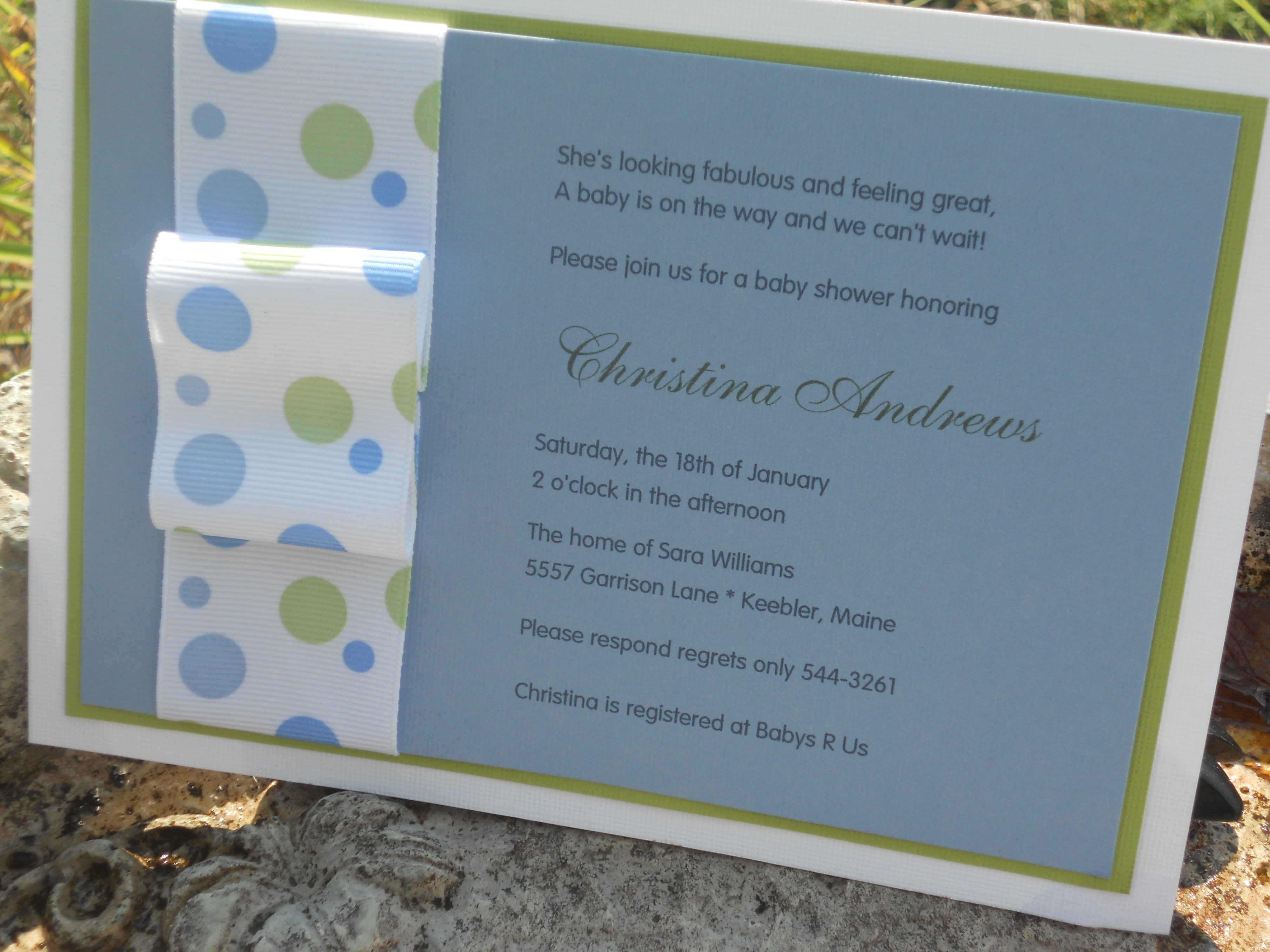 easy homemade baby shower invitations