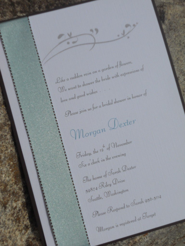 Easy Homemade Wedding Invitations