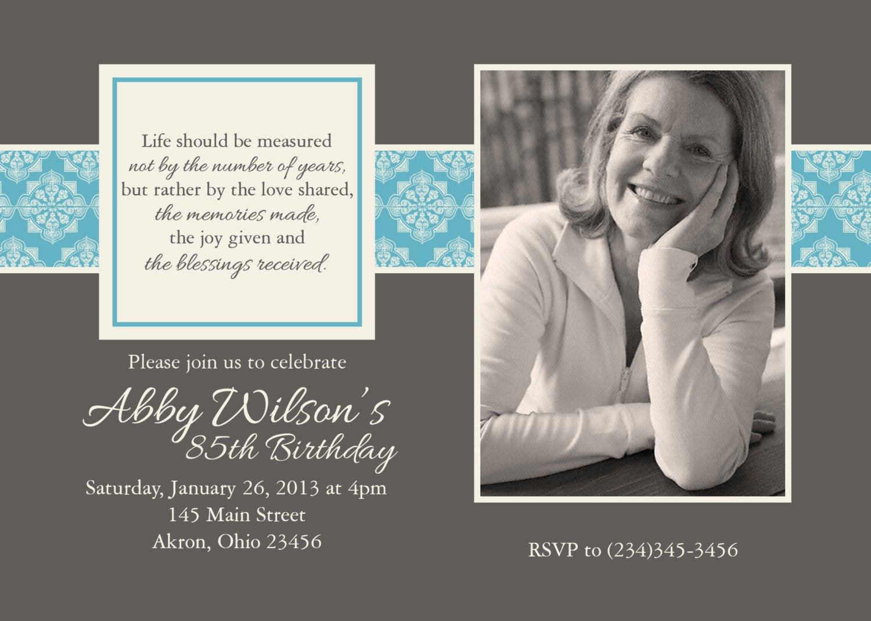 Elegant 90th Birthday Invitations For Women