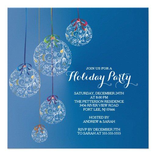 Elegant Christmas Holiday Party Invitation