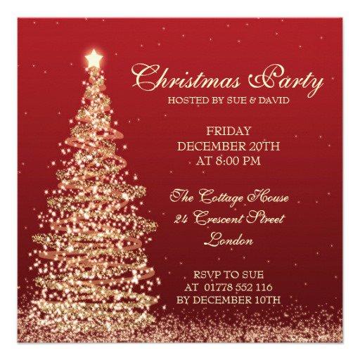 Elegant Christmas Holiday Party Invitations