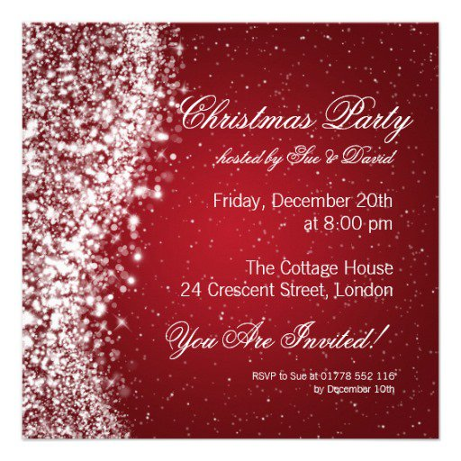 elegant christmas party invitations templates