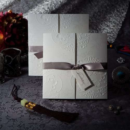 Elegant Embossed Wedding Invitations