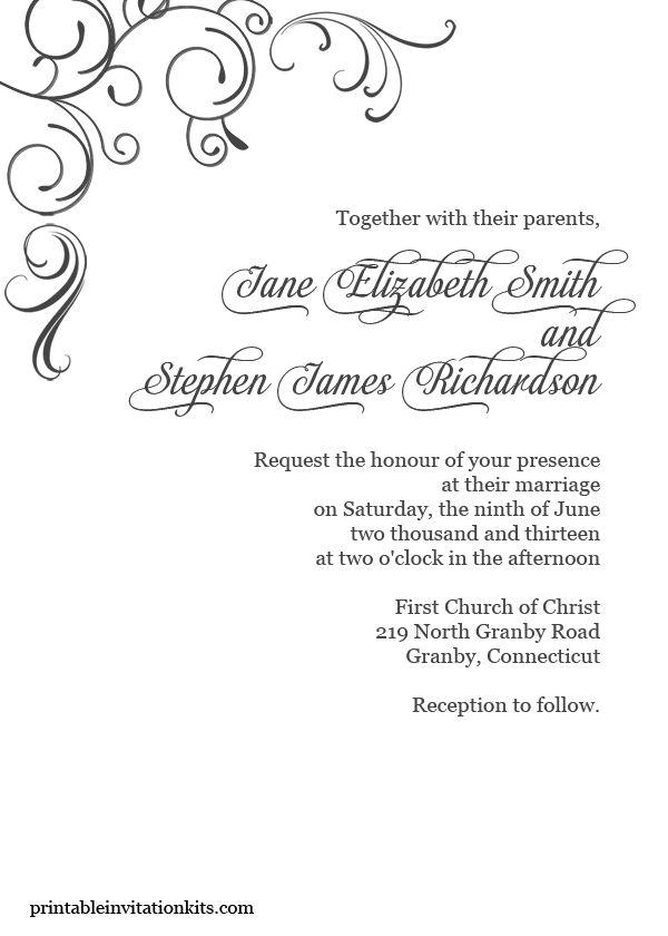 Elegant Invitation Templates Free Download