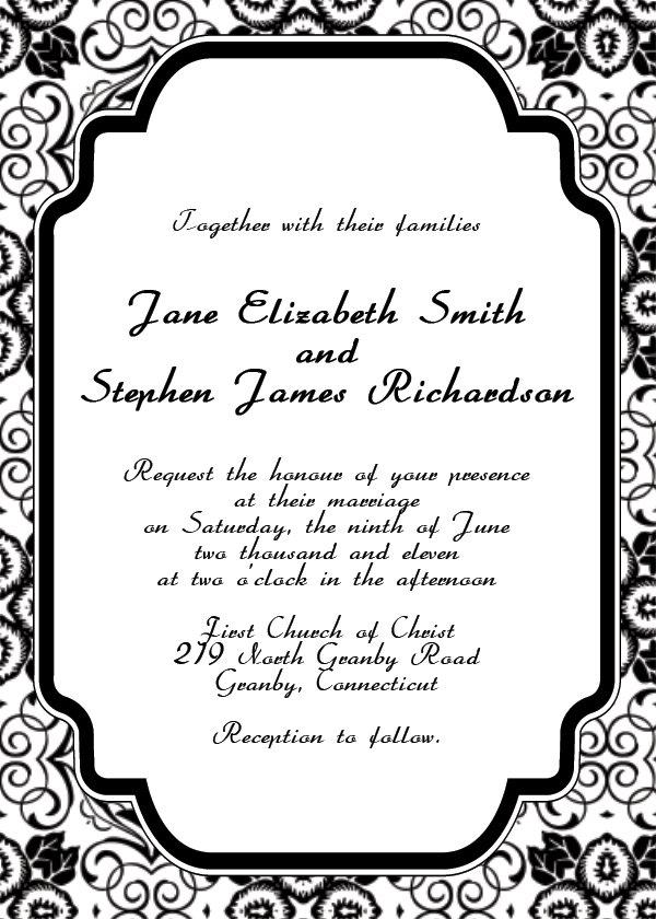 Elegant Invitation Templates Free Downloads