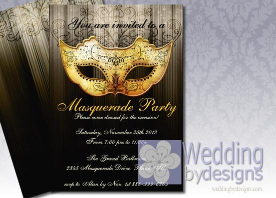 Masquerade Wedding Invitations: Elegant Masquerade Invitations