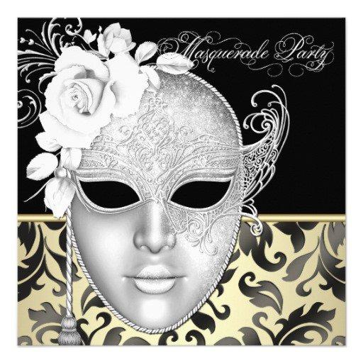 Elegant Masquerade Invitations