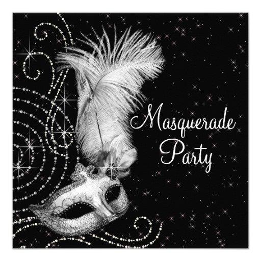 Elegant Masquerade Party Invitations