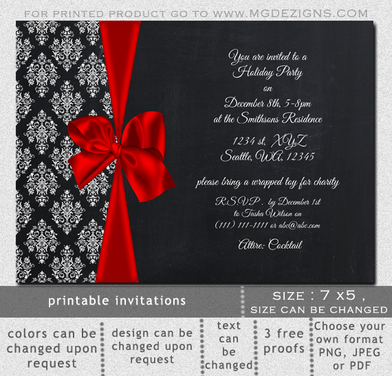 Elegant Office Party Invitation Templates