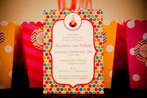 Elmo 2nd Birthday Party Invitation Wording