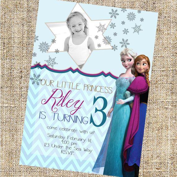 Elsa Frozen Birthday Party Invitations