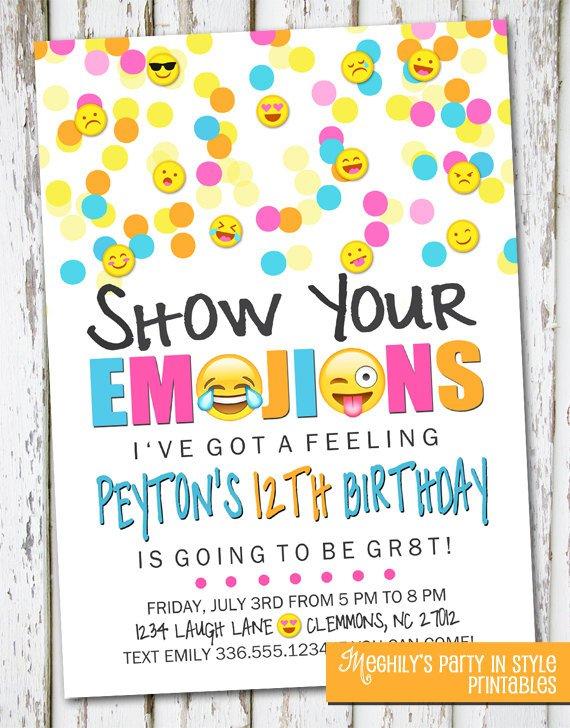 Emoji Party Invitations