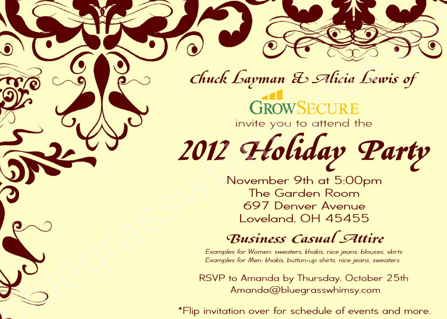 Employee Christmas Party Invitation Wording