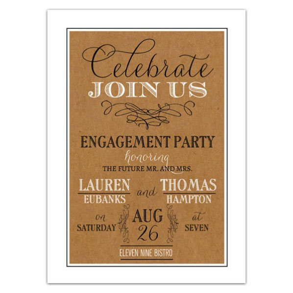 Engagement Party Invitations Print Your Own
