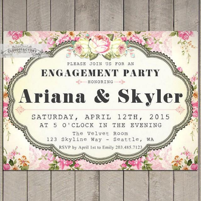 Engagement Party Invitations Printable