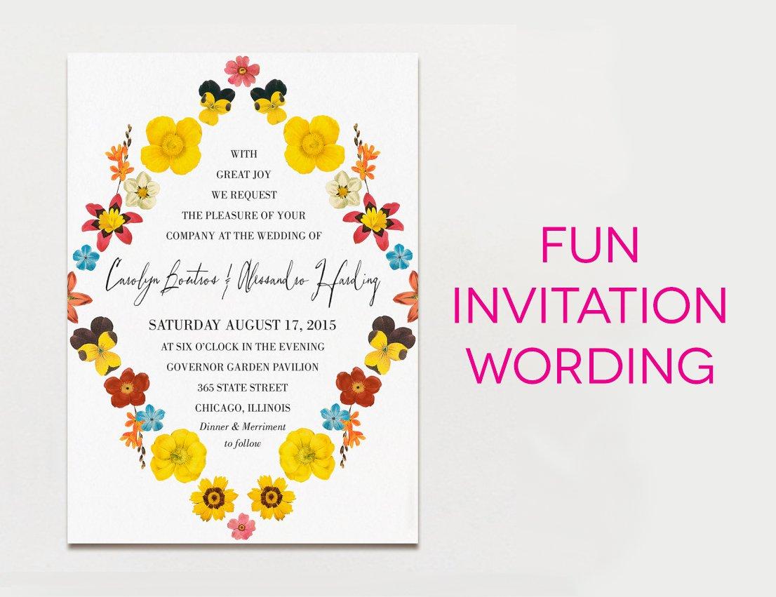 Examples Of Funny Wedding Invitation Wording