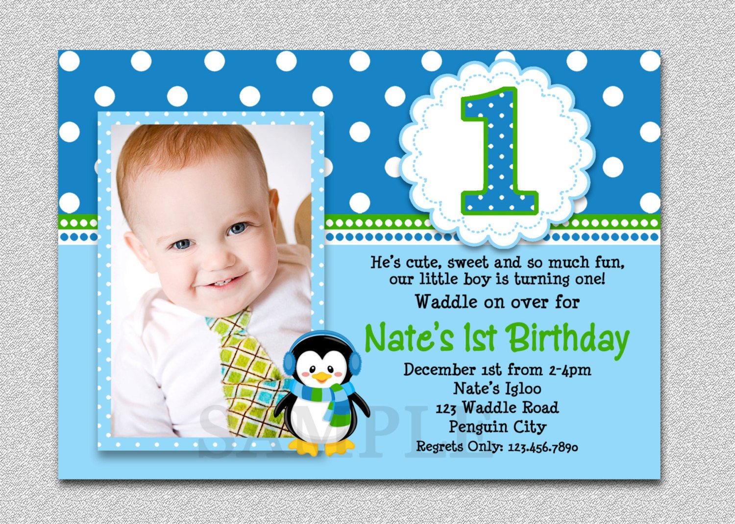Examples Of One Year Old Invitations