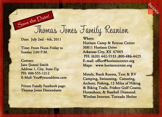 Family Reunion Invitation Samples