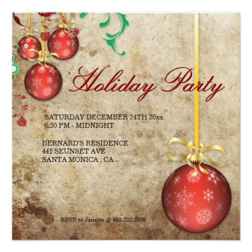 Fancy Christmas Party Invitations