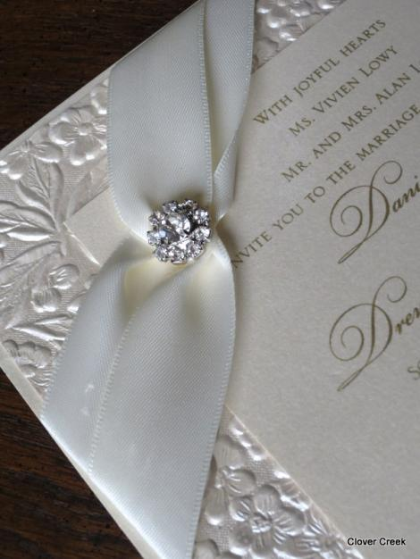 Fancy Wedding Invitations With Crystals