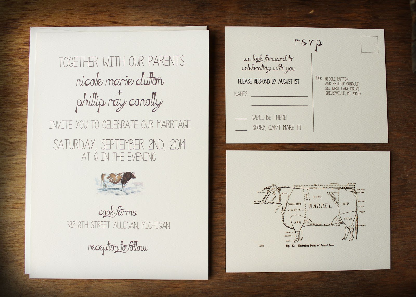 Farm Inspired Wedding Invitations 1600 X 1143
