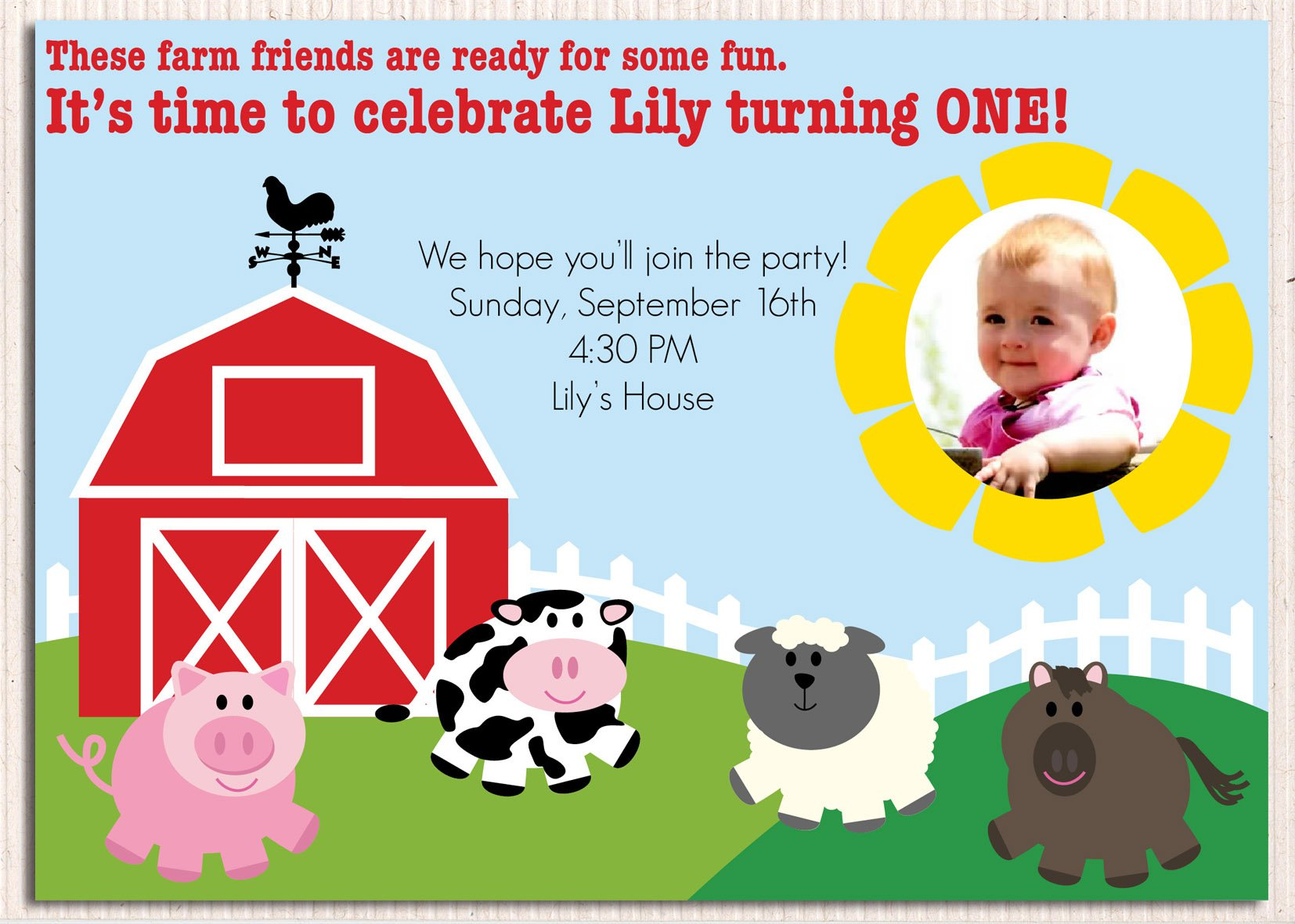 Party Invitations – Farm Party Invitations