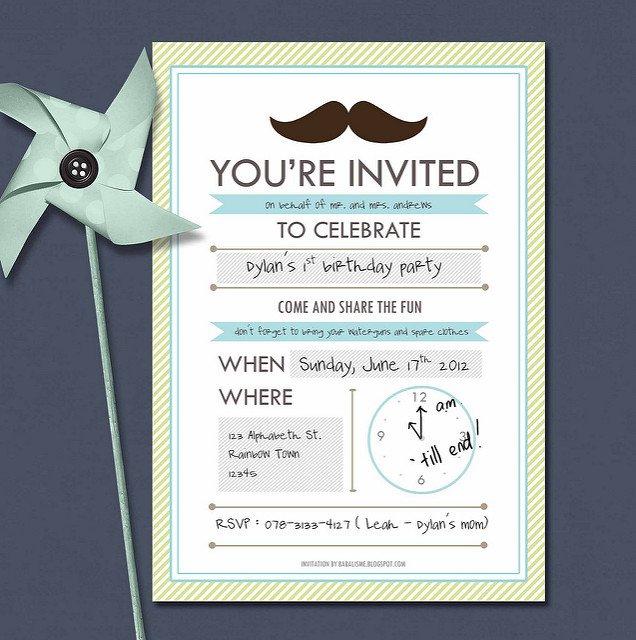 boy baby shower blank invitations