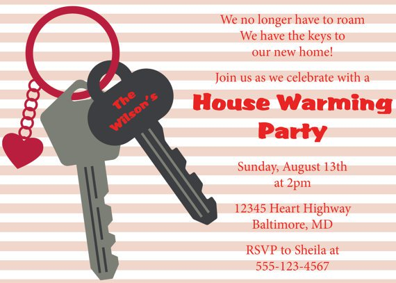 First House House Warming Invitations