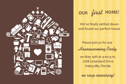 First House Housewarming Invitations