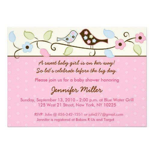 Flower Baby Shower Invitations Girl