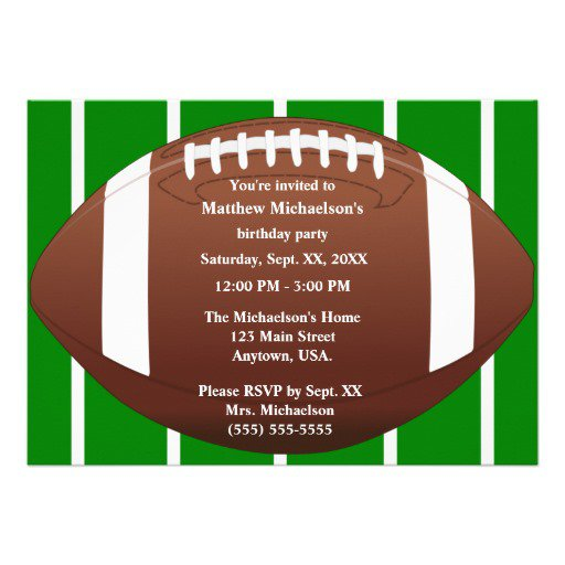 Football Birthday Invitation Templates