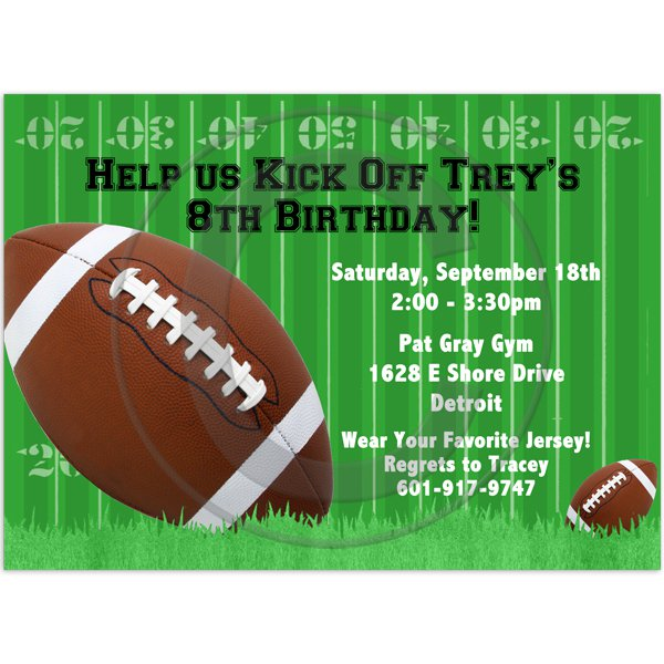 Football Birthday Invitations Templates Free