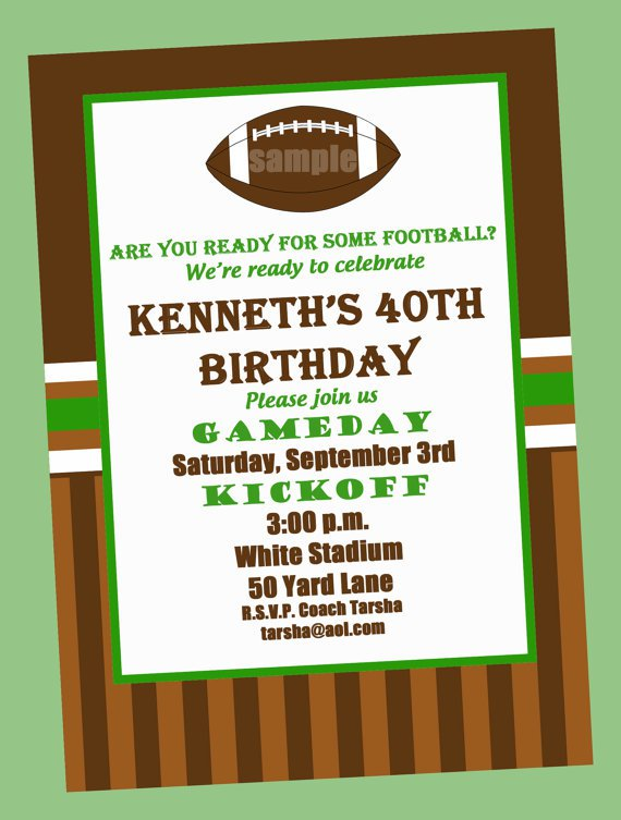 Football Invitation Wording Birthday