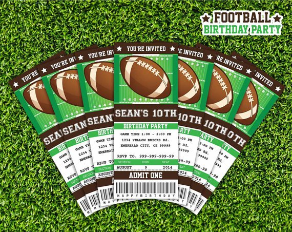 Football Party Free Invitation Downloads