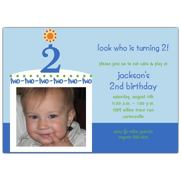 For Boys 2nd Birthday Invitation Wording
