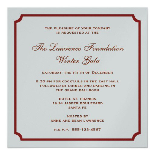 Formal Ball Invitation Sample