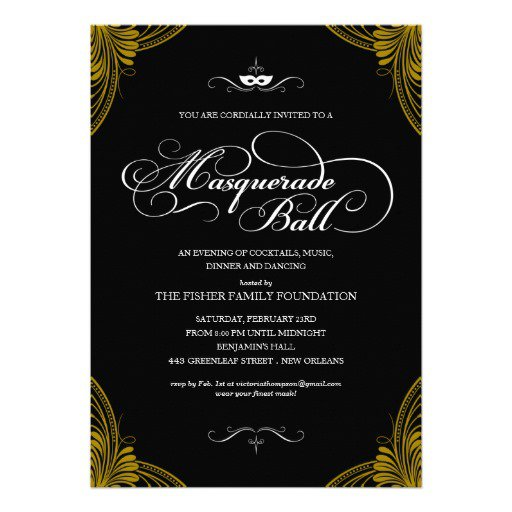 Formal Ball Invitation Wording