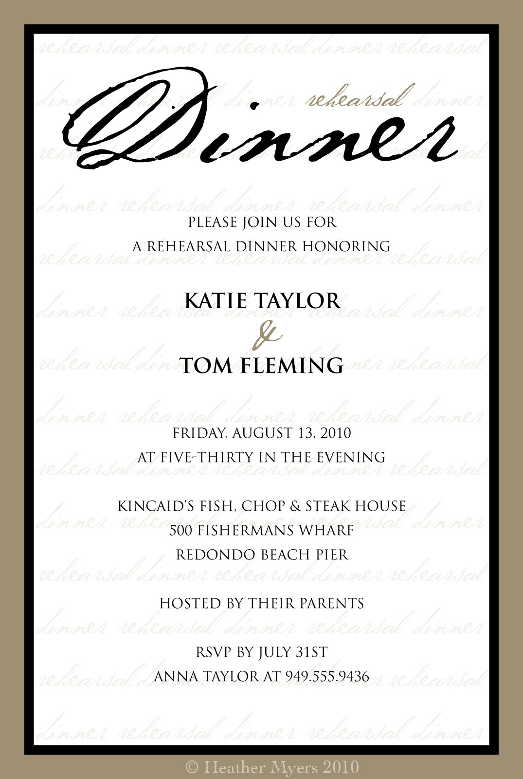 Dinner Invitation Templates – Formal Party Invitation Templates