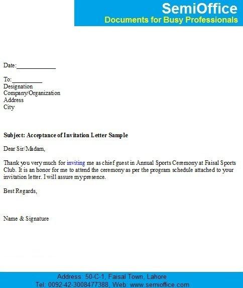 Formal Event Invitation Letter
