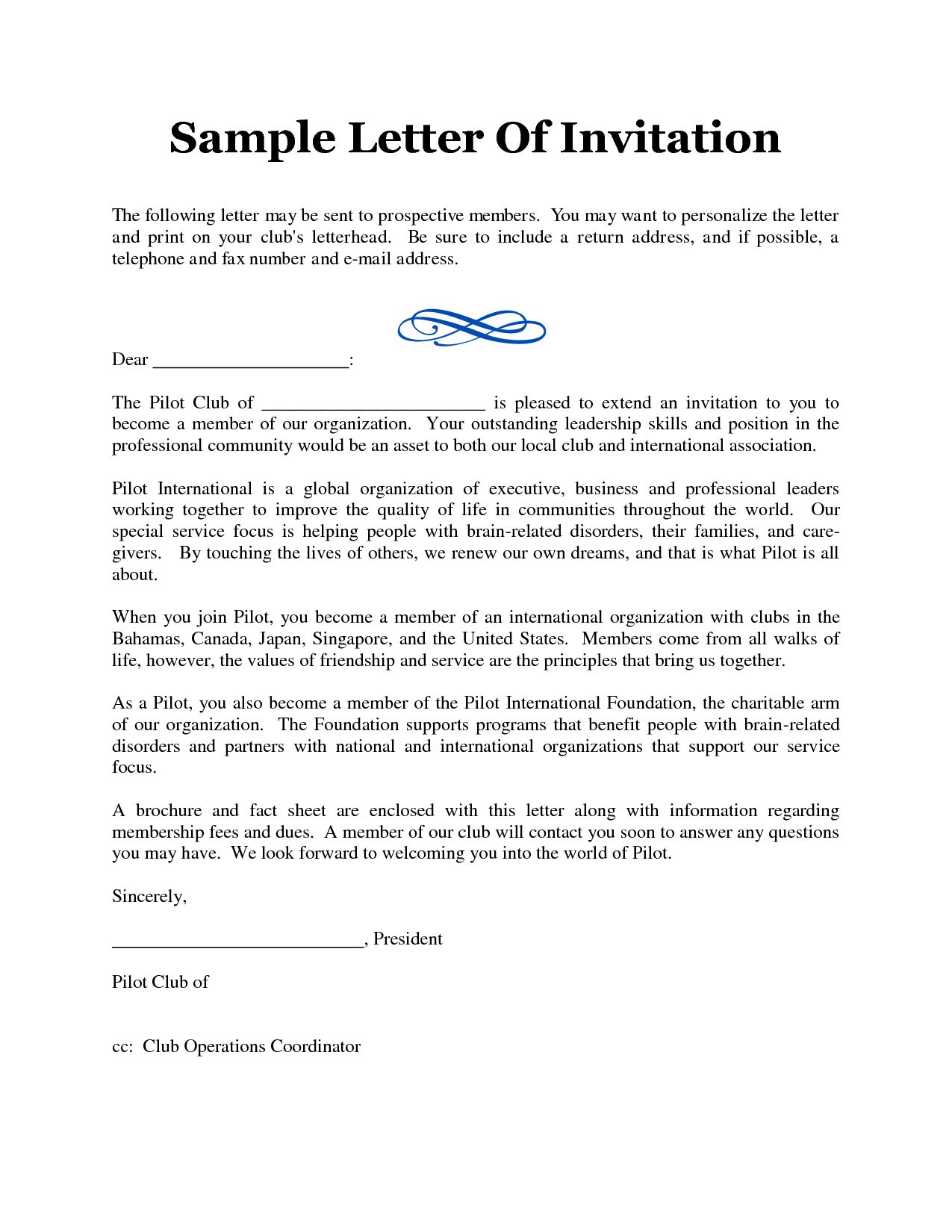 How To Write Meeting Invitation Letter - Cover Letter Templates