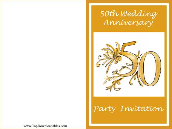Free 50th Anniversary Invitations To Print