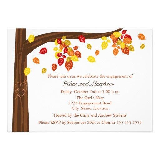 Free Autumn Invitations To Print