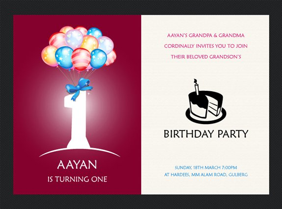 Birthday invitation card templates free download free birthday invitation card design birthday invitation card templates free download stopboris Choice Image