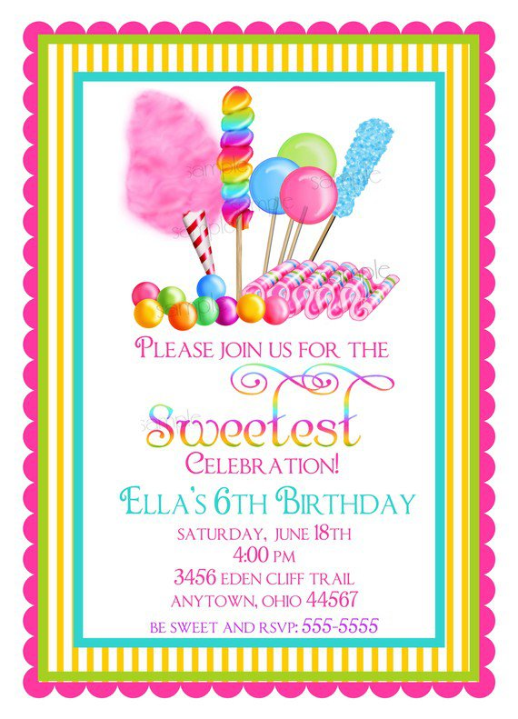 Free Chocolate Party Invitation Template
