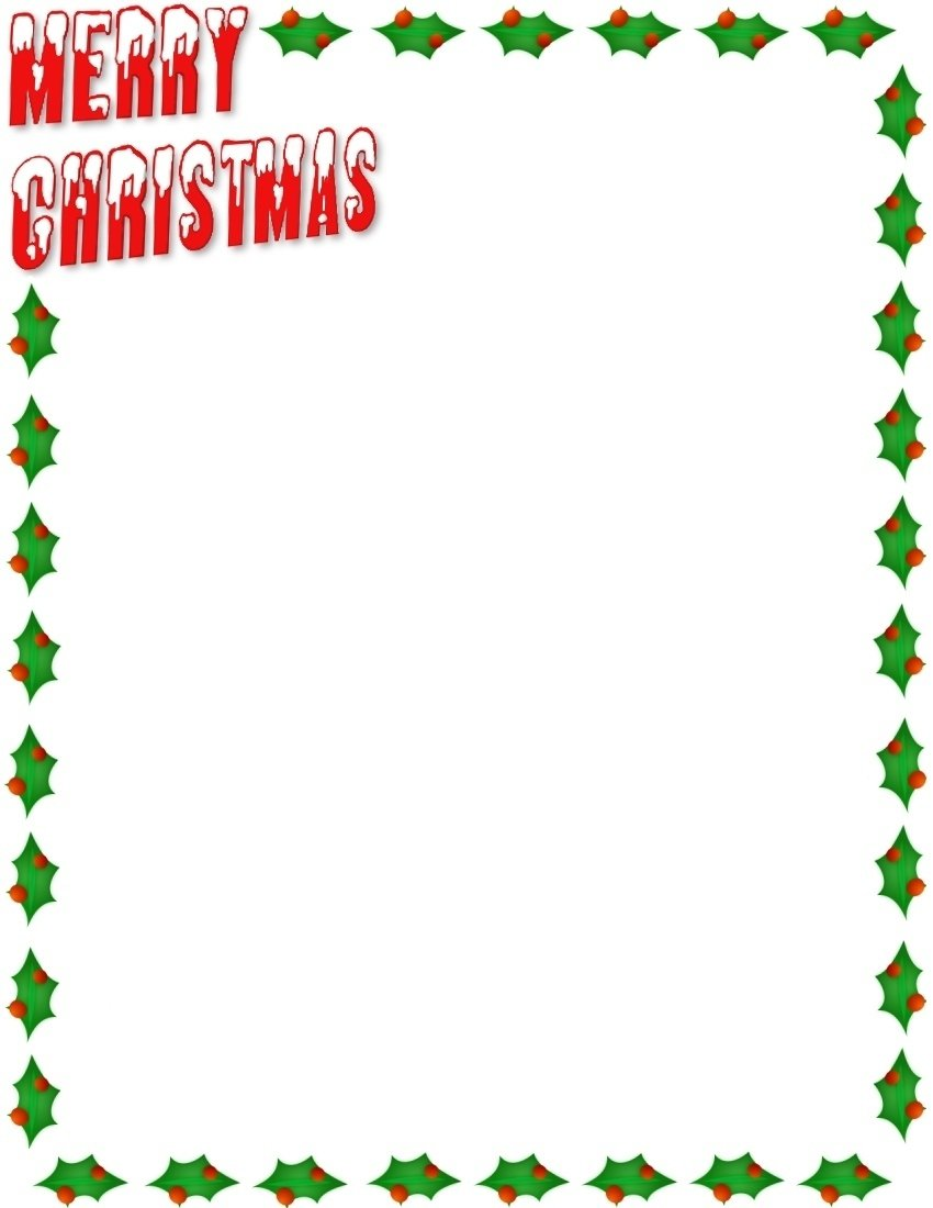 Freechristmasletterbordertemplatesg free christmas letter border templates 850 x 1100 spiritdancerdesigns Image collections