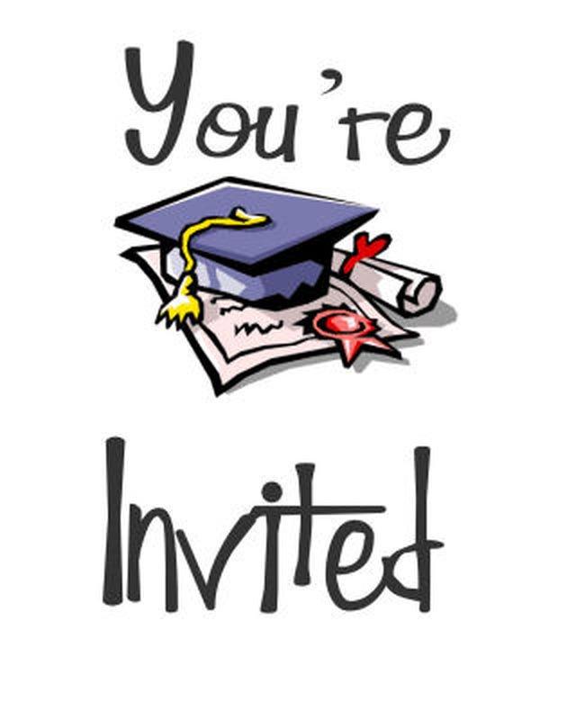 Free Customizable Graduation Invitation Cards